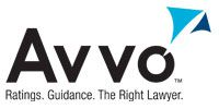 Logo Recognizing Law Offices of John P. Rosenberg's affiliation with AVVO